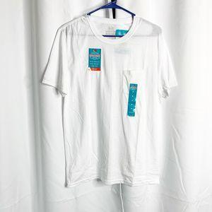 New fruit of the loom white pocket t shirt M